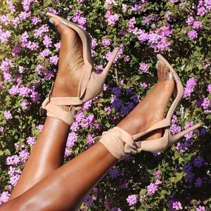 Shoes - 🆕 ➳ Show Stopper Nude Lace Up Heels